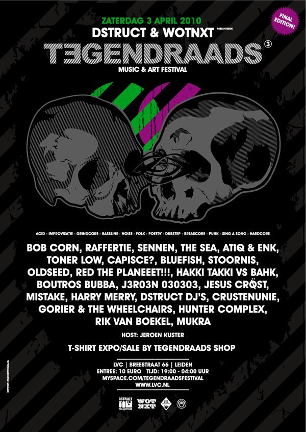 flyer: tegendraads festival, lvc, leiden - april 3 2010
