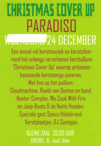 flyer: christmas cover up cd presentation, paradiso, amsterdam - december 24 2010