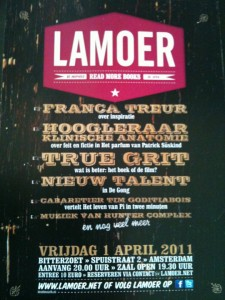 flyer: lamoer, bitterzoet, amsterdam - april 1 2011