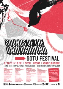 flyer: sound of the underground, vondelbunker, amsterdam - may 10 2013
