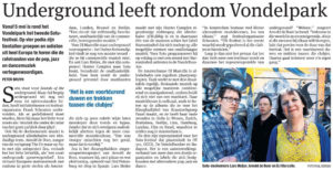 parool article: sound of the underground