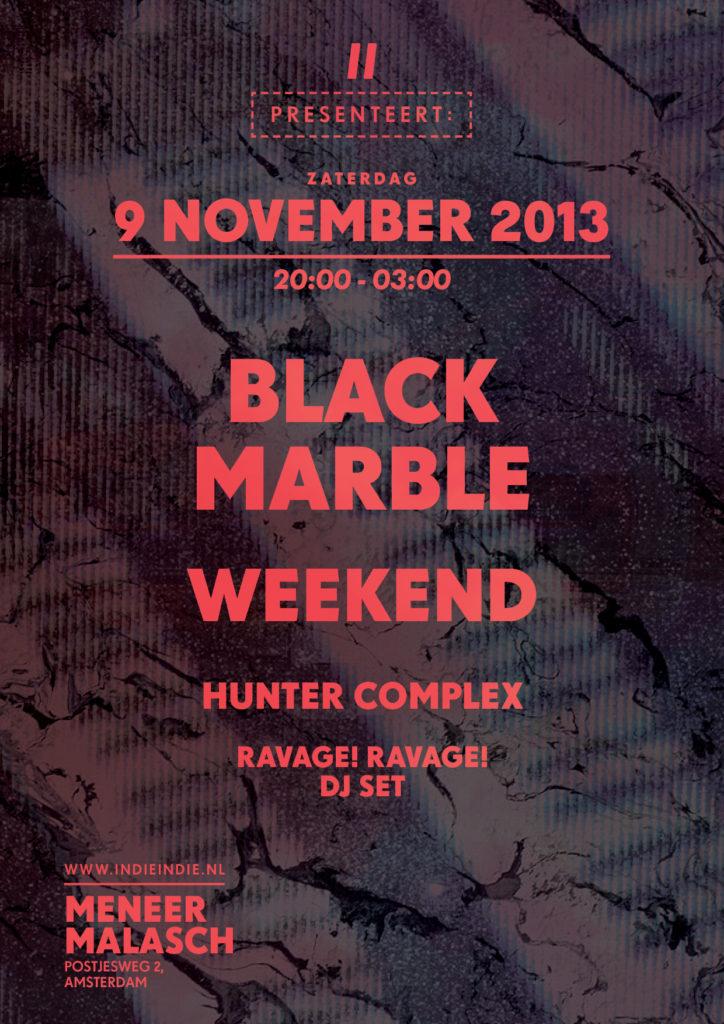flyer: indie indie, meneer malasch, amsterdam - november 9 2013