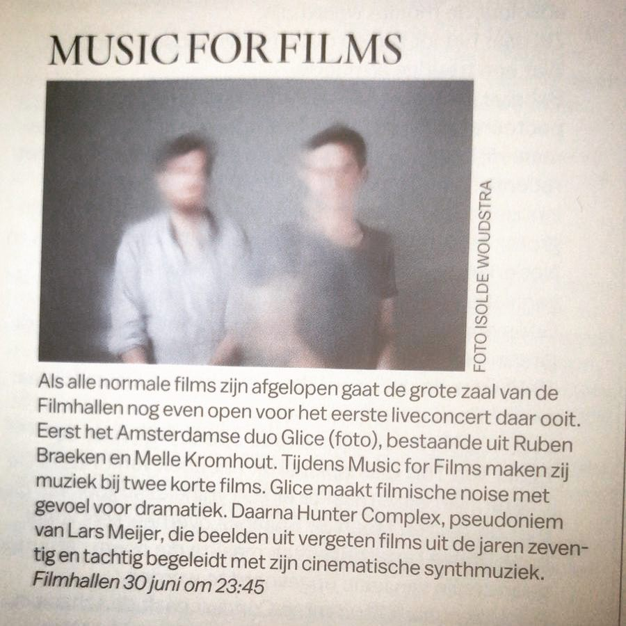parool: music for films, filmhallen, amsterdam - june 30 2018