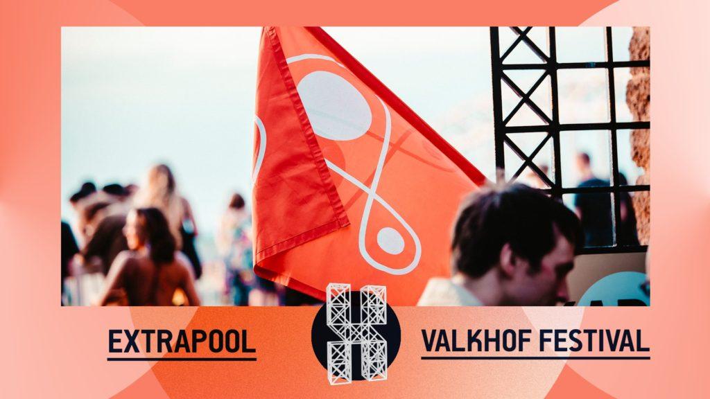 flyer: extrapool x valkhof festival, kapel, nijmegen - july 17 2019
