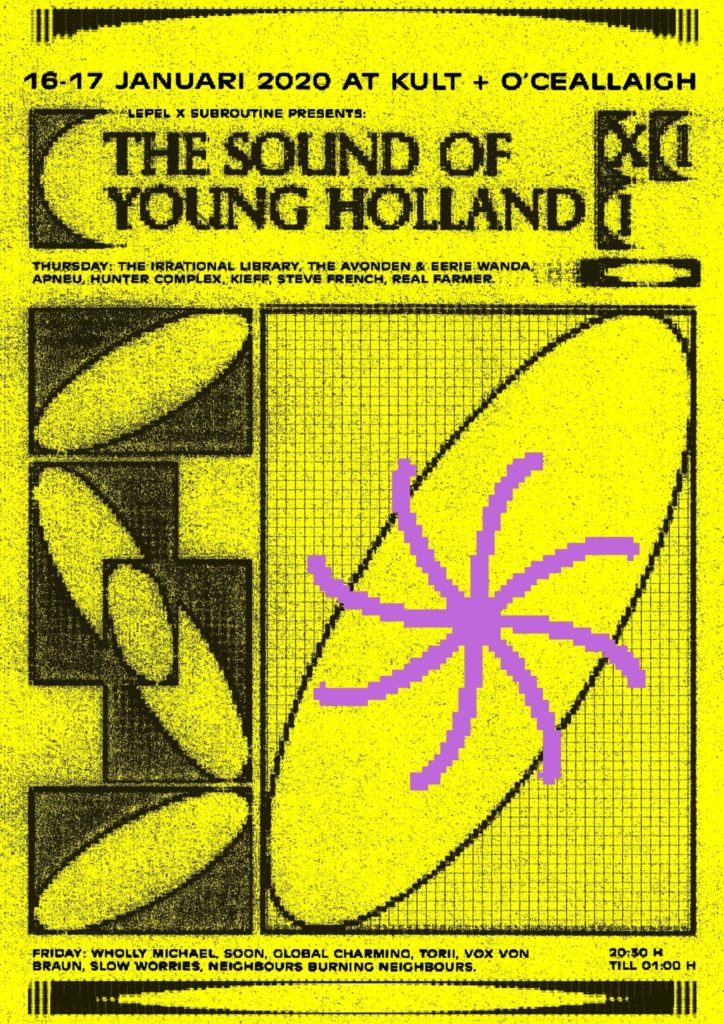 flyer: the sound of young holland xii, groningen - january 16 2020